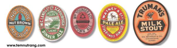 Nhãn bia dùng keo đã xuất hiện từ giữa thế kỉ 20